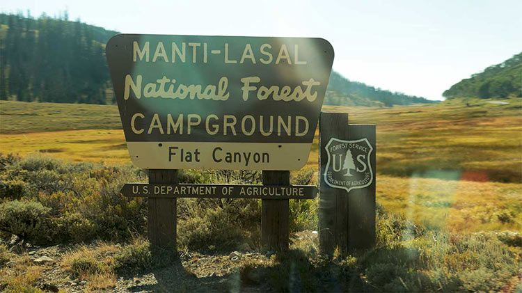 IMG 8081 sign for Flat Canyon CG Manti LaSal Natl Forest w